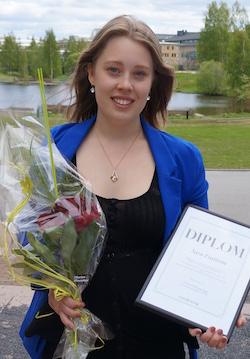 Sara Enström, Umeå – en av 2015 års stipendiater.