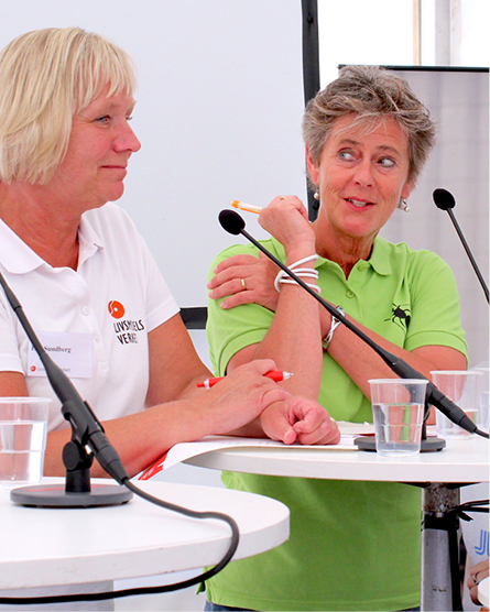 Eva Sundberg, teamchef Mat och Måltider, Livsmedelsverket och Marianne Backrud-Hagberg, orförande, Kost & Näring.