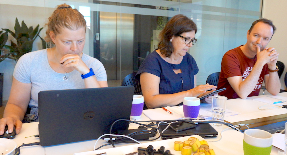 Gemensamma krafter. Agneta Hörnell (t.v.) och Ylva Mattson Sydner, här tillsammans med norska Kost- og ernæringsforbundets ordförande Arnt Steffensen, deltog i diskussionerna om en europeisk yrkeslegitimation för foodservice-dietister.
