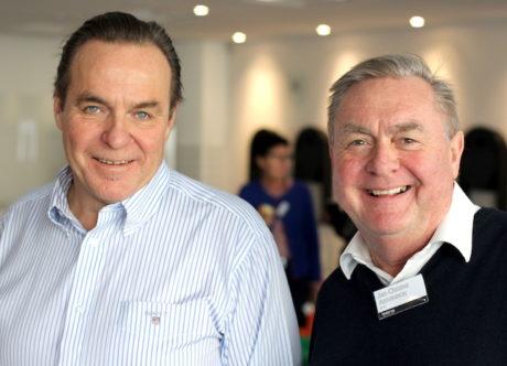 Måltids- och transaktionsspecialister. Ronald Johansson (t.v.) tillsammans med Jan-Christer Antonsson. Foto: David Hollertz.