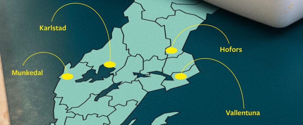 Fyra kommuner utsedda till utvecklingsmiljöer.